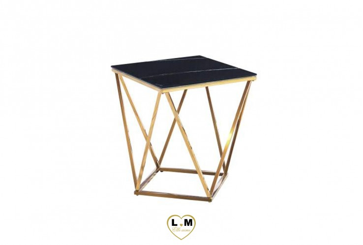 GARAUDY TABLE BASSE GOLD MARBRE NOIR
