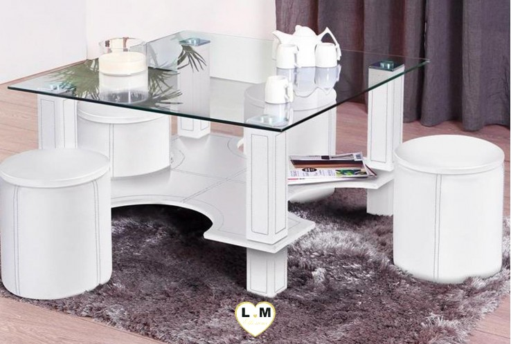 LABICA TABLE BASSE BLANC