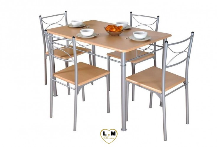 NANCY ENSEMBLE TABLE DE CUISINE HETRE