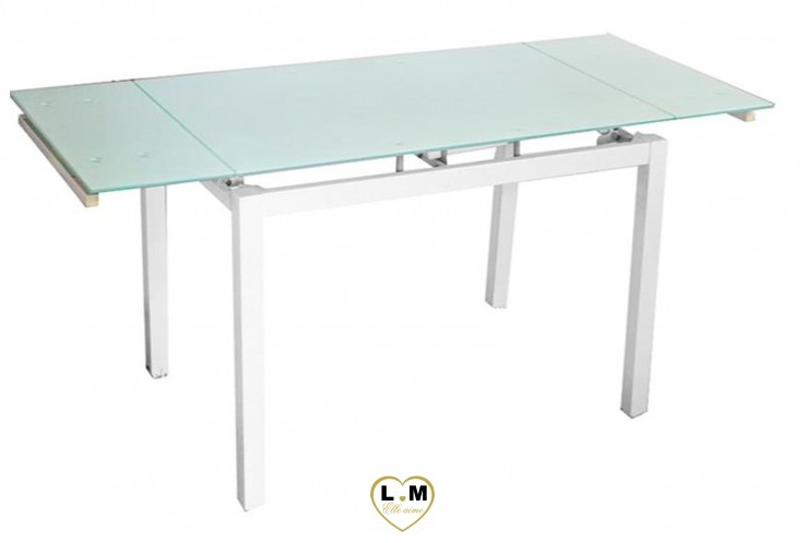 MALET TABLE RALLONGE BLANC