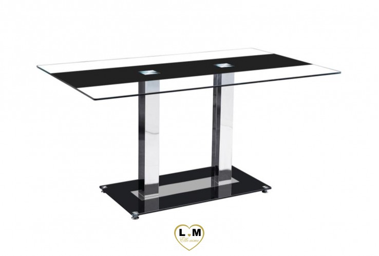 SALOMON TABLE REPAS NOIR TRANSPARENT