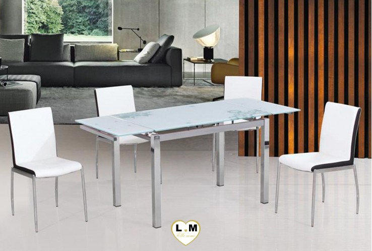 MARTY TABLE RALLONGE CHROME