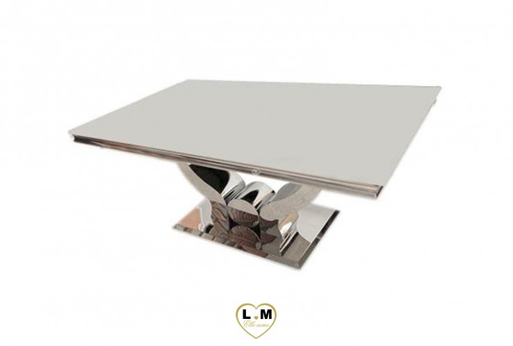 LAMY TABLE BASSE BLANC