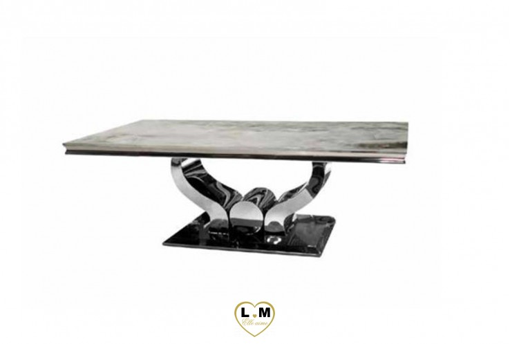 LAMY TABLE BASSE MARBRE BLANC
