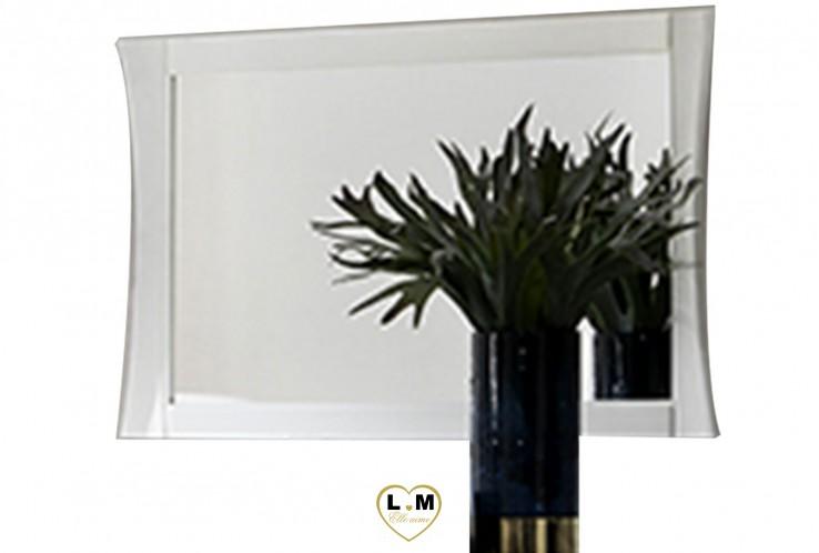 TANZANIE LAQUÉ BLANC ENSEMBLE CHAMBRE À COUCHER DESIGN : Le Miroir