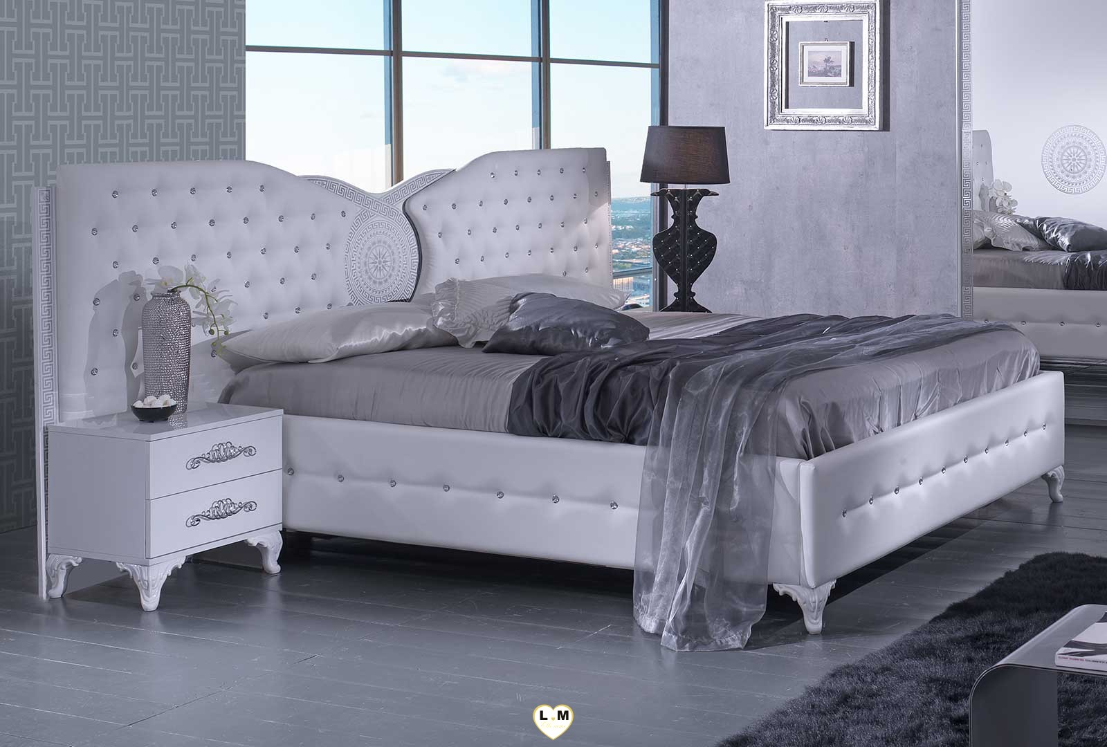 tana blanc chambre a coucher le lit lignemeuble com. Black Bedroom Furniture Sets. Home Design Ideas