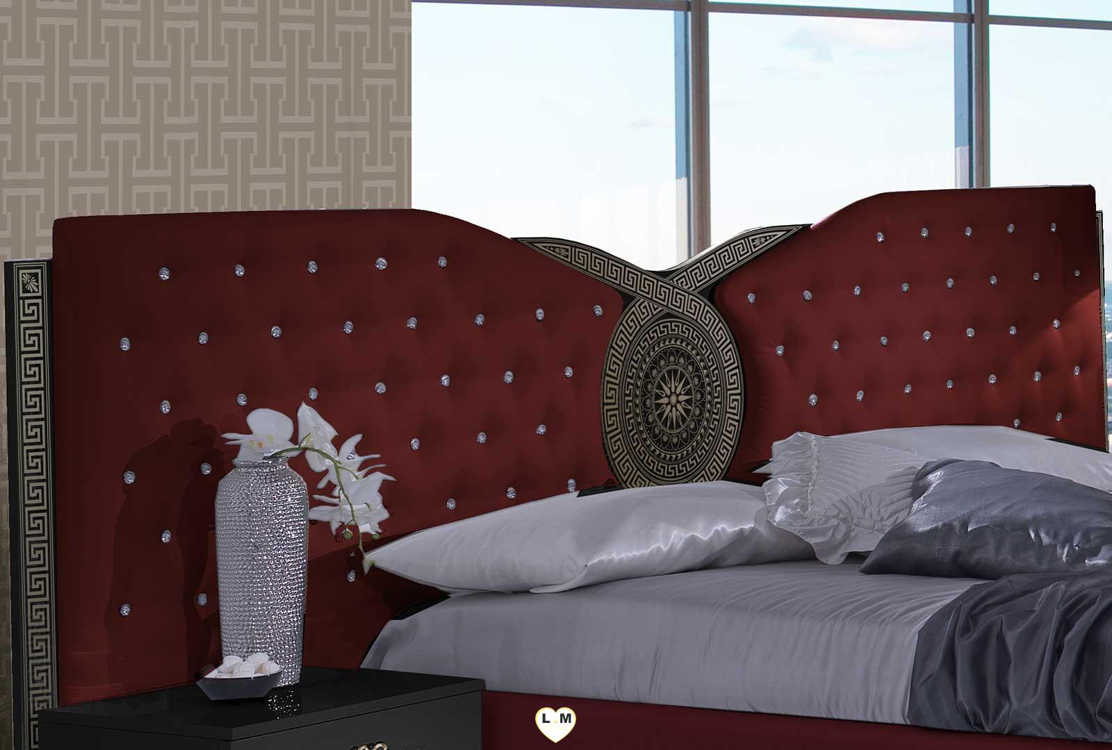 Tana bordeaux et noir chambre a coucher le lit - Chambre a coucher noir ...