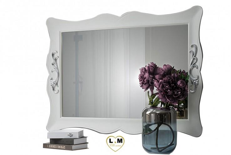TESSY BLANC ET ARGENT CHAMBRE À COUCHER DESIGN : Le Miroir