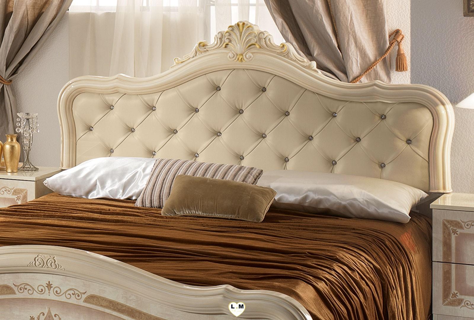 Thyda laque beige nuage ensemble chambre a coucher for Chambre a coucher ensemble