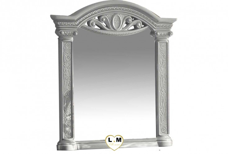 TEVA LAQUE NOIR ET ARGENT CHAMBRE A COUCHER BAROQUE : Le Miroir