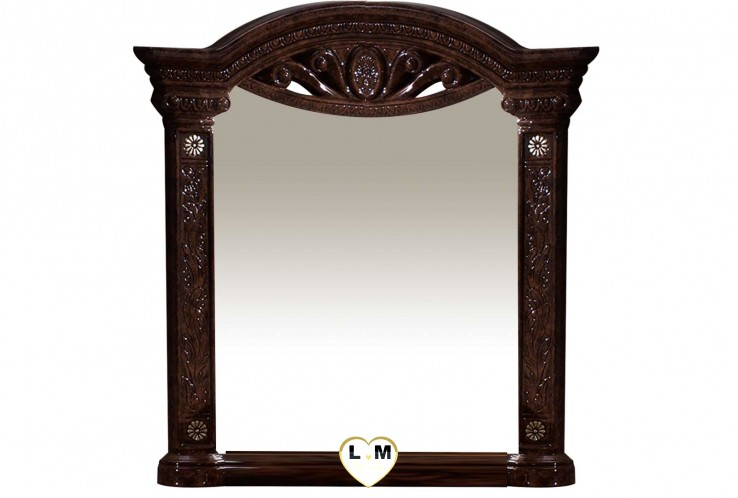 TEVA LAQUE NOYER NUAGÉ CHAMBRE A COUCHER BAROQUE : Le Miroir