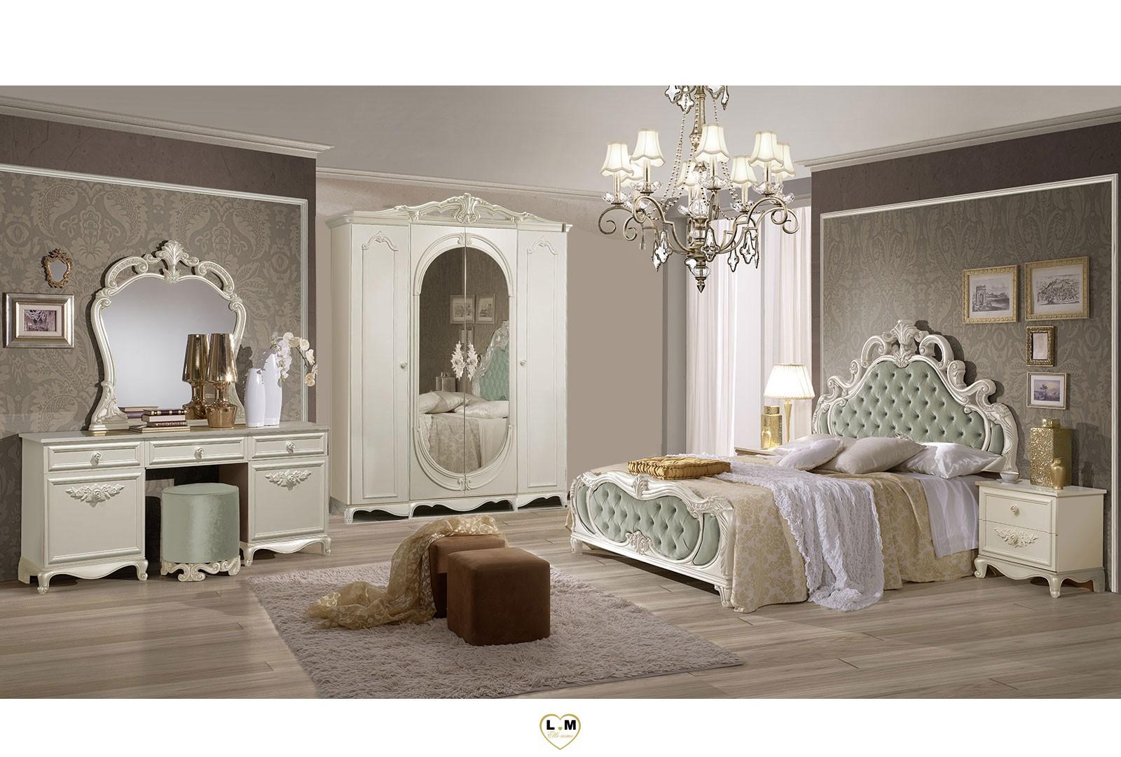 thema ivoire ensemble chambre a coucher baroque ligne. Black Bedroom Furniture Sets. Home Design Ideas