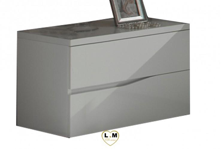 TWIST LAQUE BLANC CHAMBRE À COUCHER DESIGN : Le Chevet