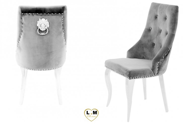 HURRICANE VELOURS GRIS CLAIR : LA CHAISE