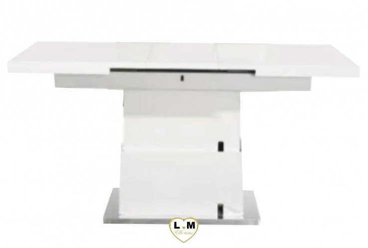 GAIN DE PLACE TABLE RELEVABLE LAQUÉ BLANC