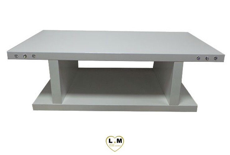 TBA02B TABLE BASSE LAQUE BLANC