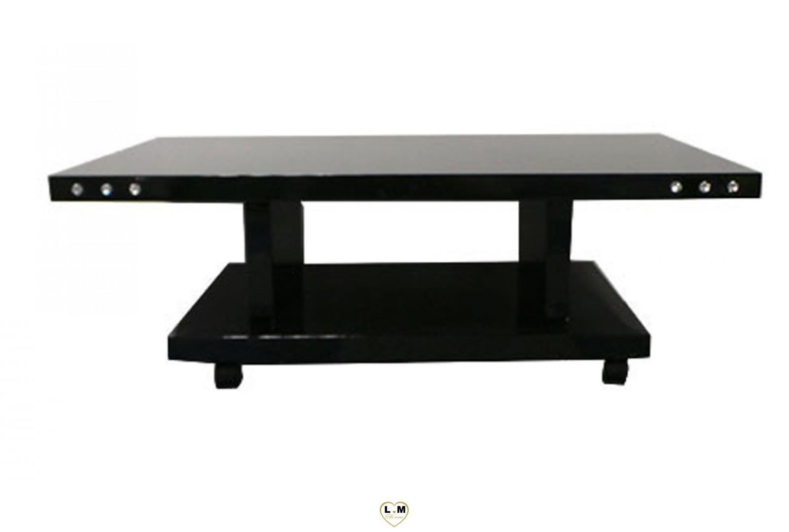 tba02n table basse laque noir lignemeuble com. Black Bedroom Furniture Sets. Home Design Ideas