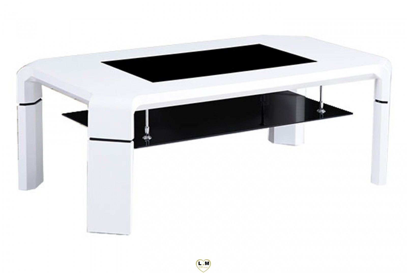 elegant table basse blanc et noir id es de conception de. Black Bedroom Furniture Sets. Home Design Ideas