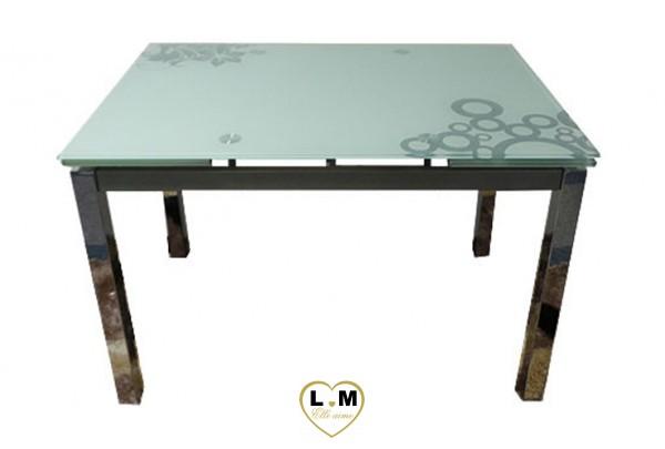 Tbad50 table basse blanc verre noir lignemeuble com for Table salle a manger verre noir