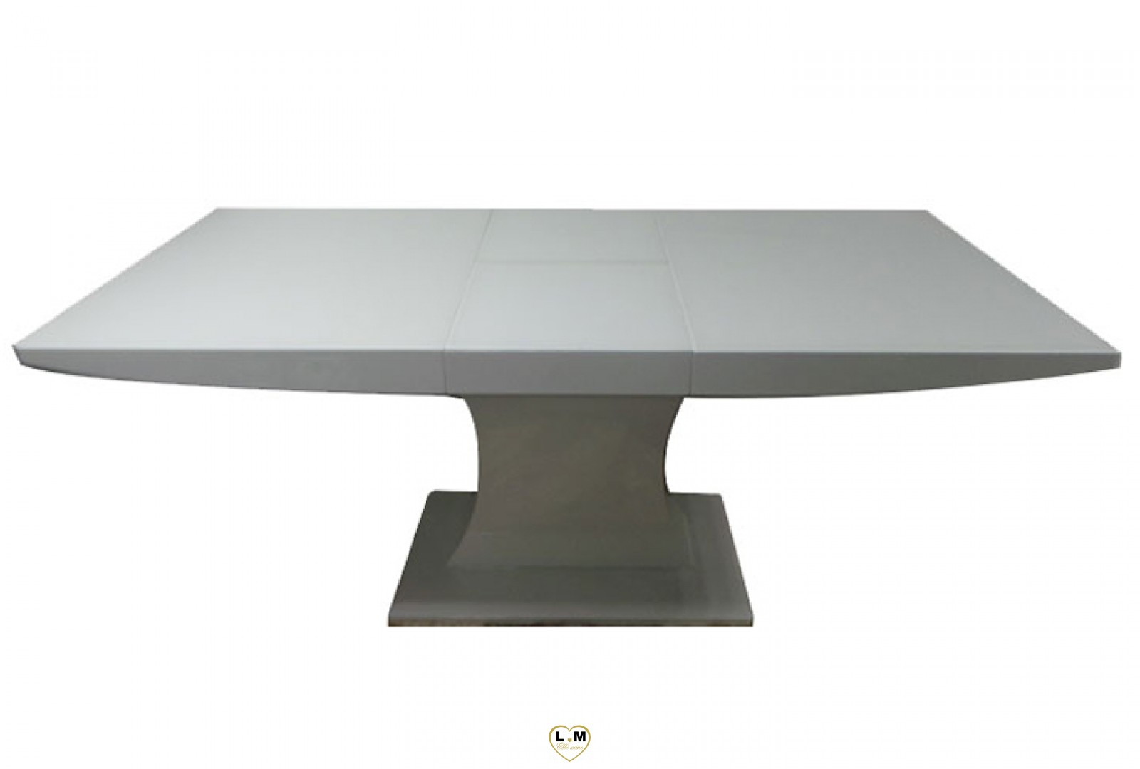 T b table allonge salle a manger laque blanc for Table salle a manger laque blanc rallonge