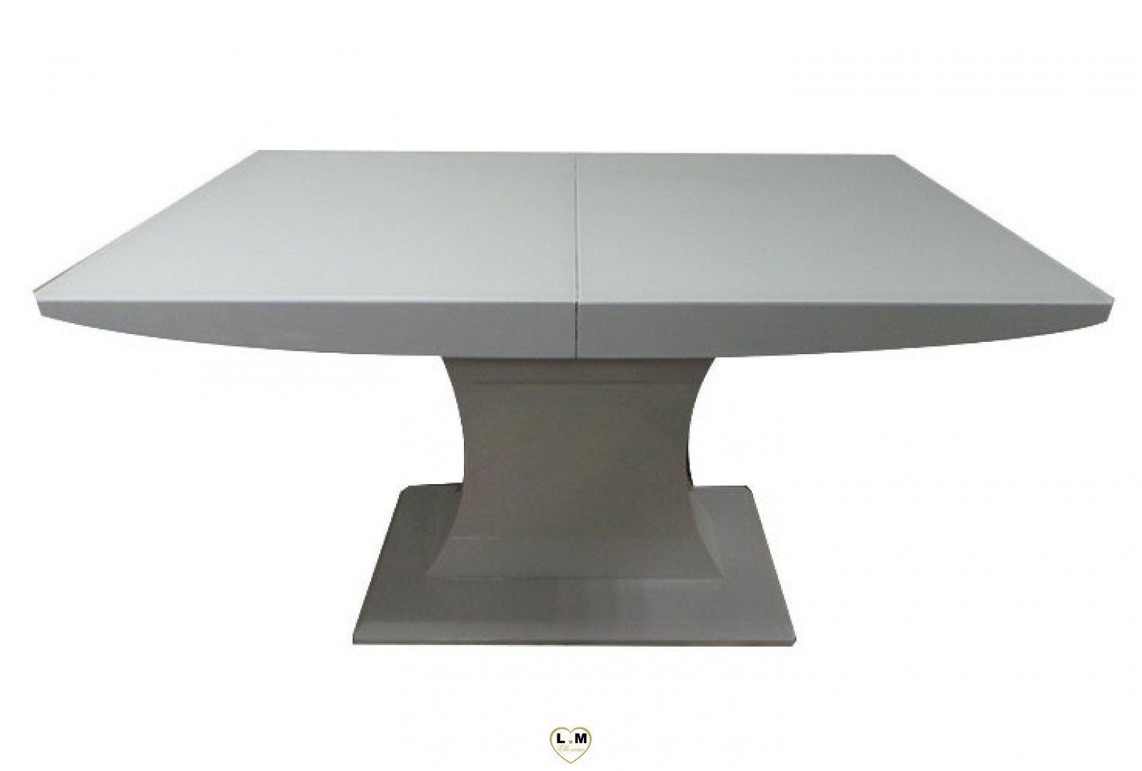 T107b table allonge salle a manger laque blanc lignemeuble com for Table ronde laque blanc