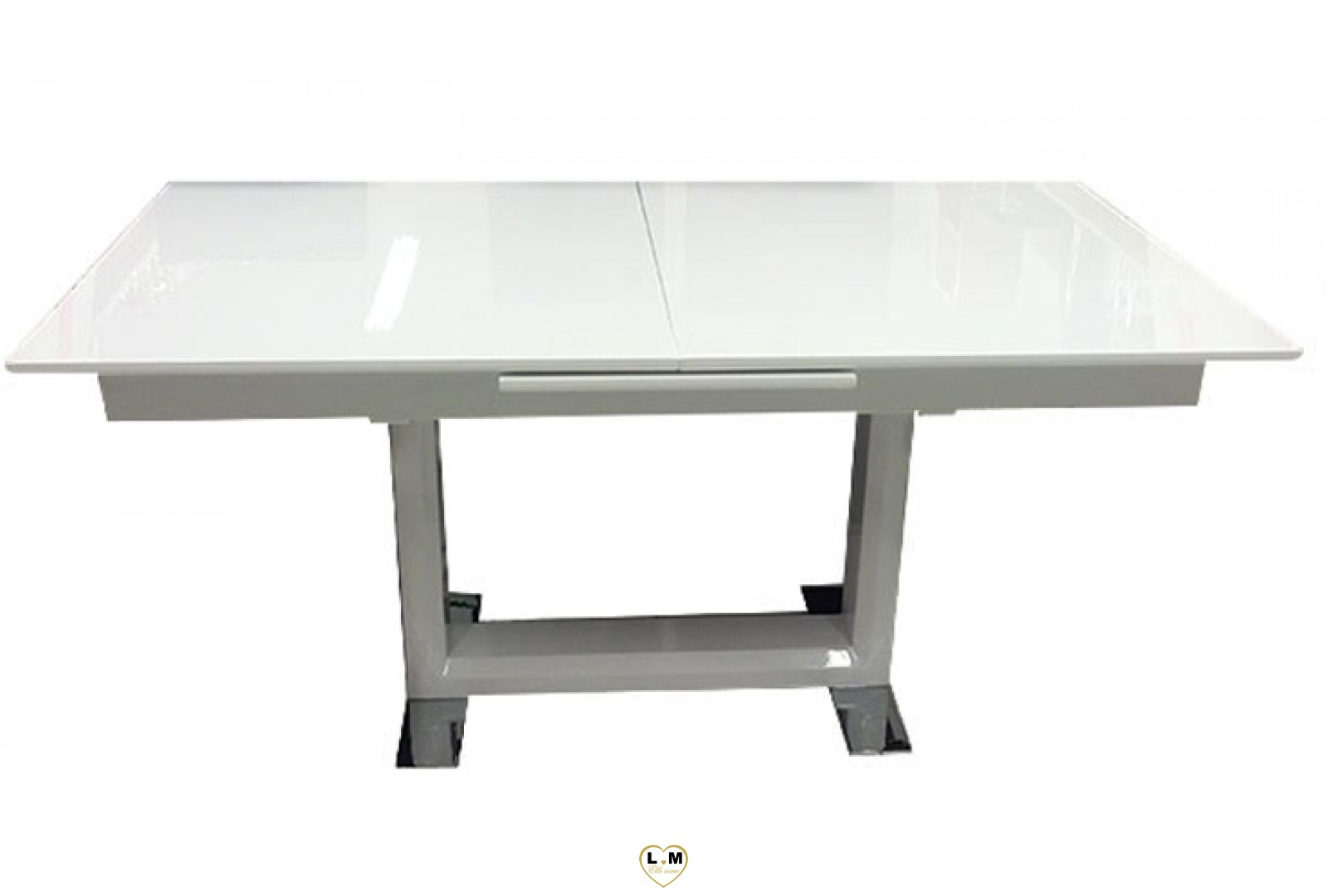 t11b table allonge salle a manger laque blanc lignemeuble com. Black Bedroom Furniture Sets. Home Design Ideas