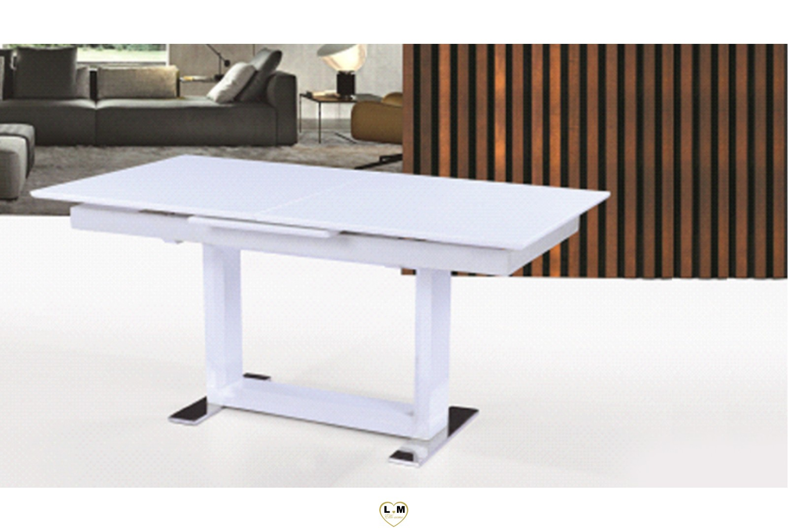 Table salle a manger blanc laque maison design for Table salle a manger laque blanc