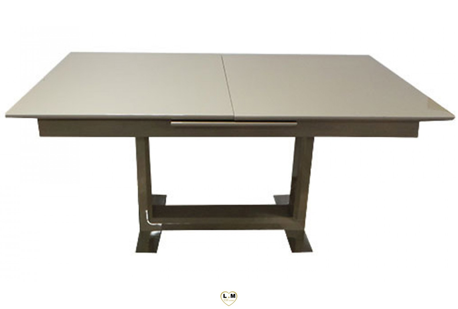 t11t table allonge salle a manger laque taupe lignemeuble com. Black Bedroom Furniture Sets. Home Design Ideas