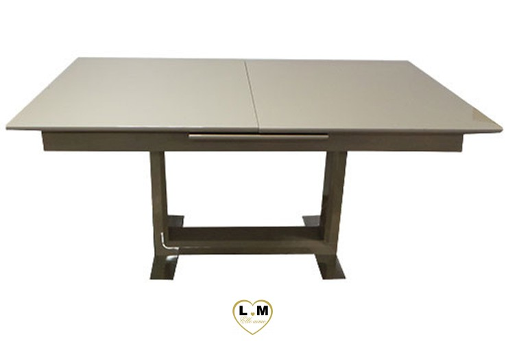 T11T TABLE ALLONGE SALLE A MANGER LAQUE TAUPE