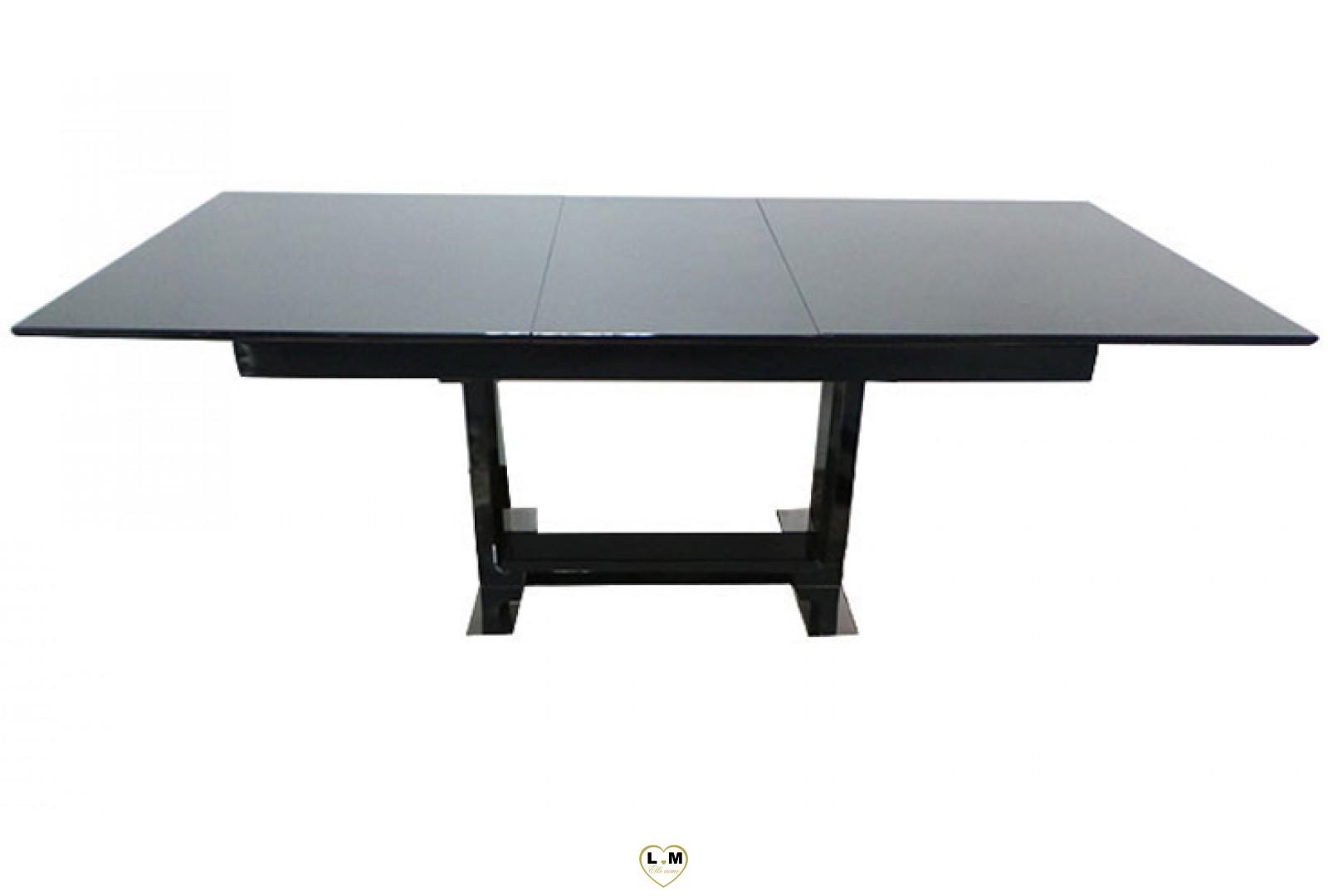Table salle a manger noir maison design for Salle a manger table noire