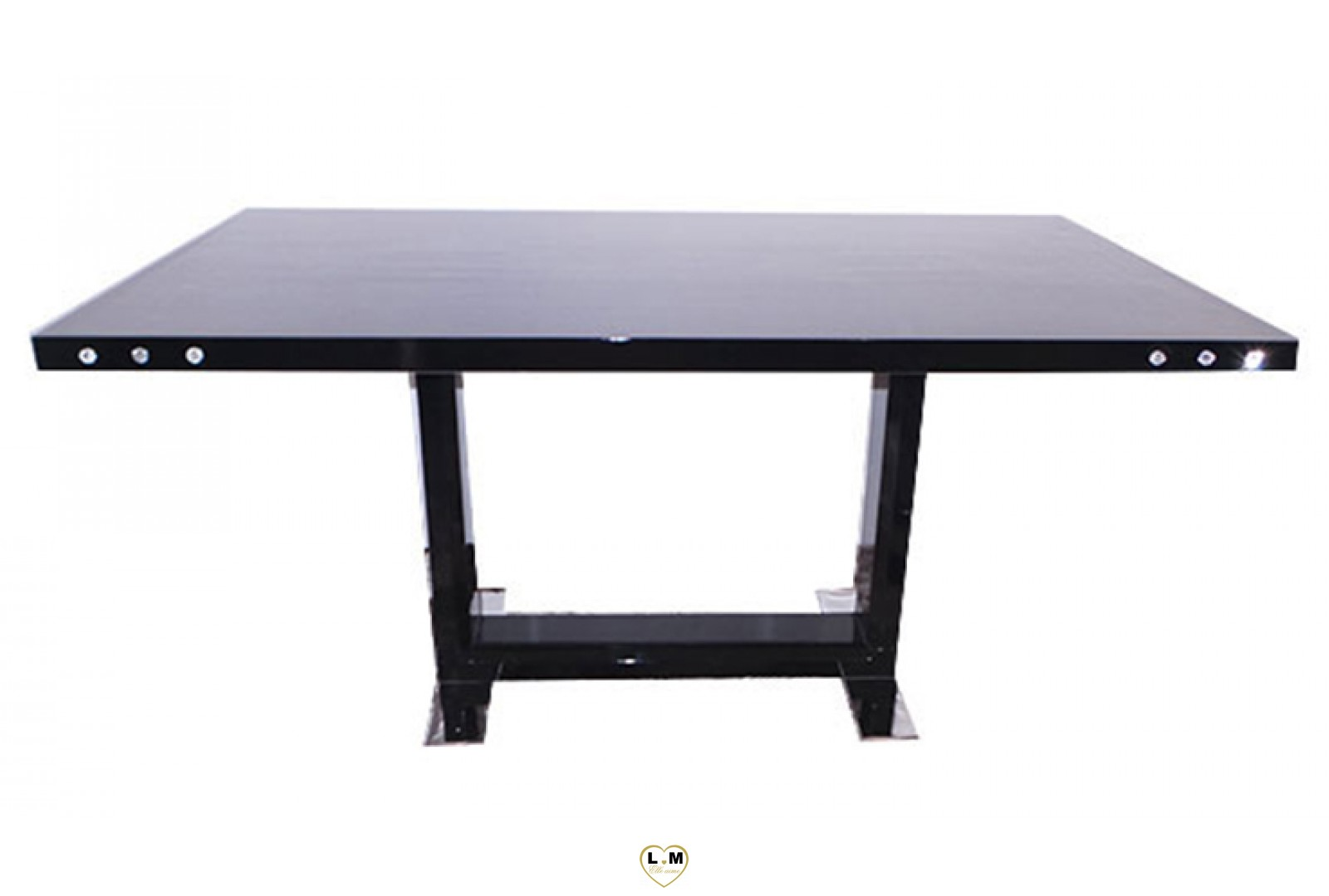 t12n table salle a manger laque noir lignemeuble com. Black Bedroom Furniture Sets. Home Design Ideas