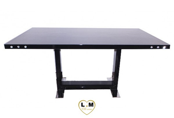 A141n la chaise noire lignemeuble com for Table salle a manger noir