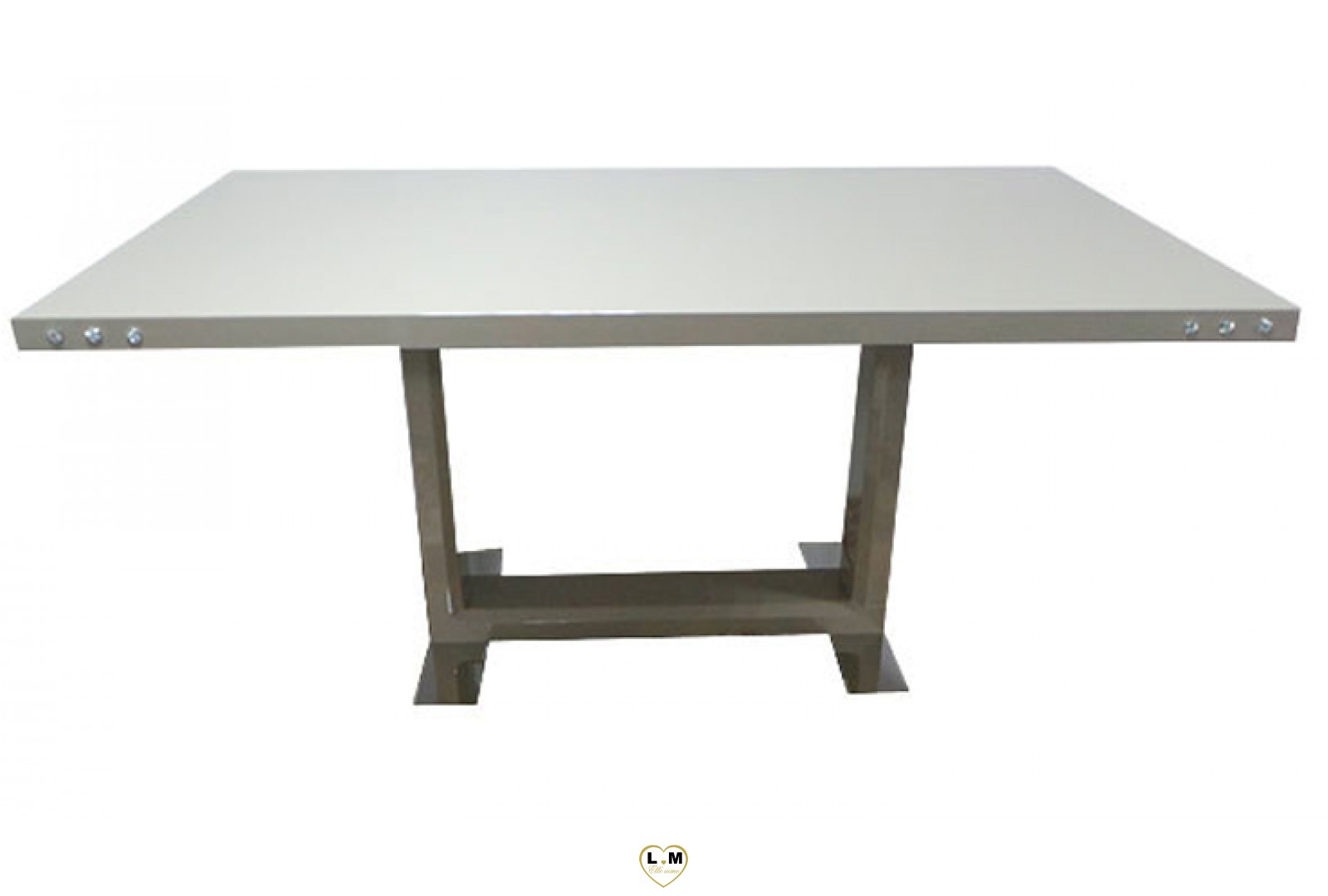 T12t table salle a manger laque taupe lignemeuble com - Table a manger taupe ...