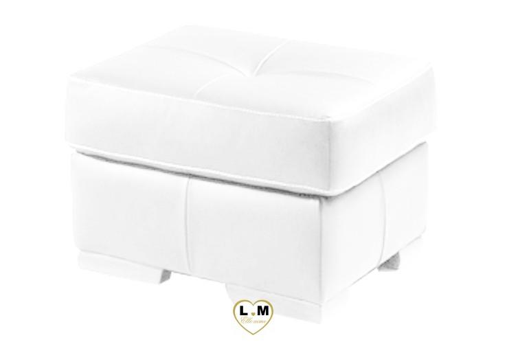AMELIE SALON CUIR: Le Pouf Carré - Longueur : 60 cm x Largeur : 60 cm x Hauteur : 45 cm