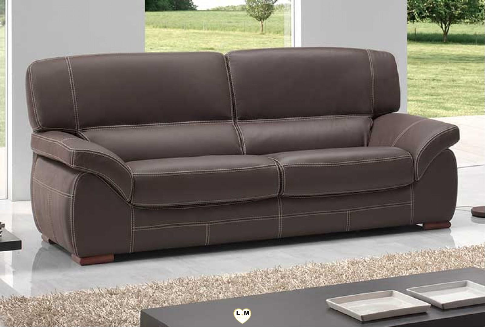 adele ensemble salon cuir lignemeuble com. Black Bedroom Furniture Sets. Home Design Ideas