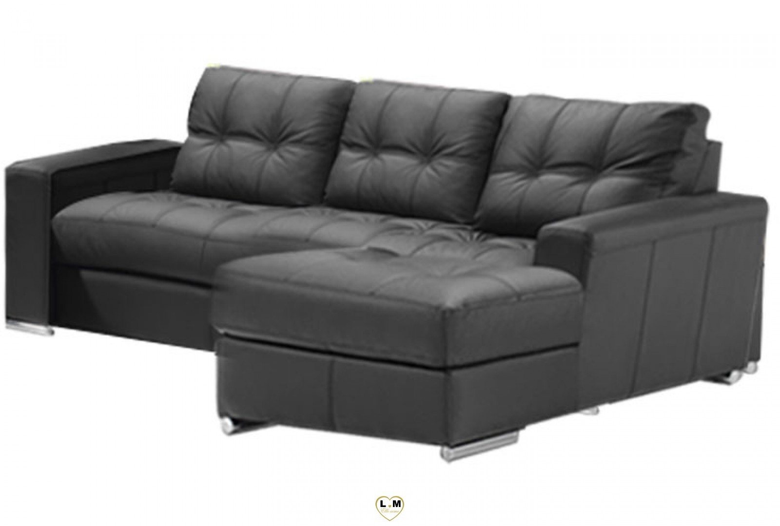alexie angle chaise longue ensemble salon cuir lignemeuble com. Black Bedroom Furniture Sets. Home Design Ideas