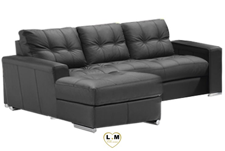 ALEXIE ANGLE CHAISE LONGUE ENSEMBLE SALON CUIR