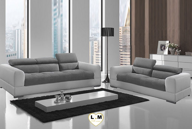 ambre ensemble salon cuir lignemeuble com. Black Bedroom Furniture Sets. Home Design Ideas