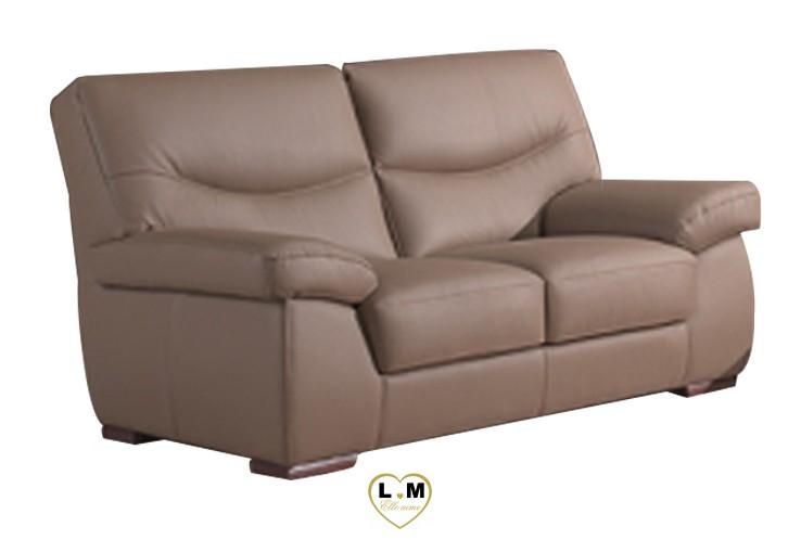ANGELIQUE SALON CUIR: Le Canapé 2 places (B) - Longueur: 168 cm - Profondeur: 102 cm - Hauteur: 92 cm.