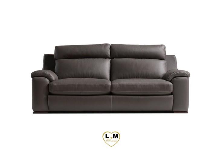 ARGOS SALON CUIR: Le Canape 2 places - Longueur: 170 cm - Profondeur: 100cm - Hauteur: 92 cm (B)