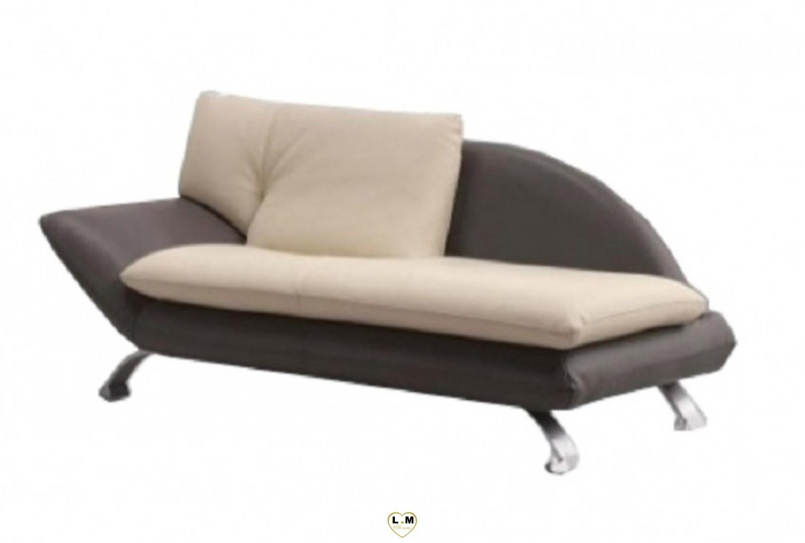 Berenice salon cuir la dormeuse meridienne droite 2 for Canape 90 cm profondeur