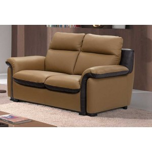 brunette ensemble salon cuir lignemeuble com. Black Bedroom Furniture Sets. Home Design Ideas