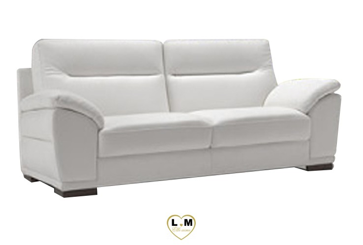 CALINE SALON CUIR: Le Canapé 3 places - Longueur: 165 cm - Profondeur: 94 cm - Hauteur: 90 cm (A)