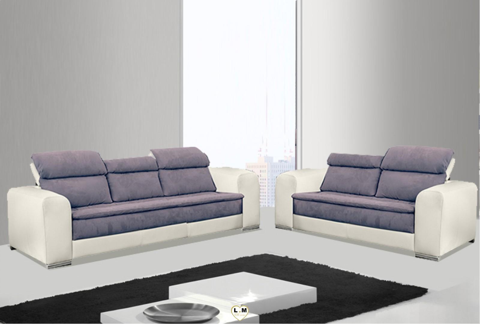 candie ensemble salon cuir lignemeuble com. Black Bedroom Furniture Sets. Home Design Ideas