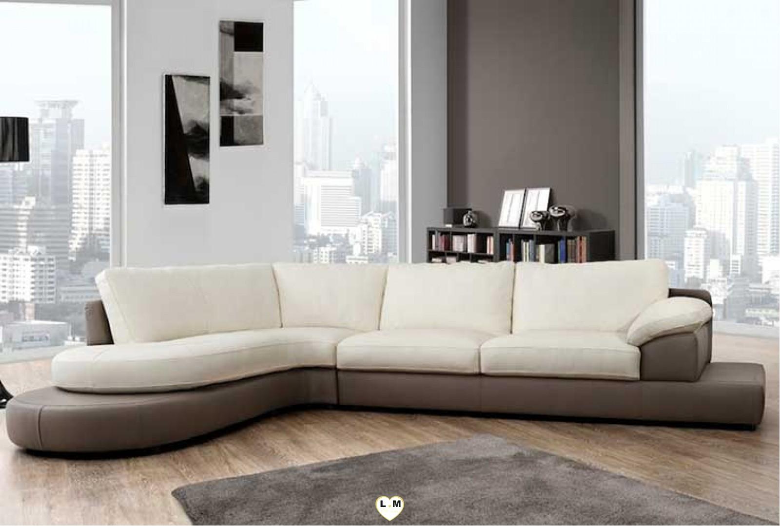 capucine angle ensemble salon cuir lignemeuble com. Black Bedroom Furniture Sets. Home Design Ideas