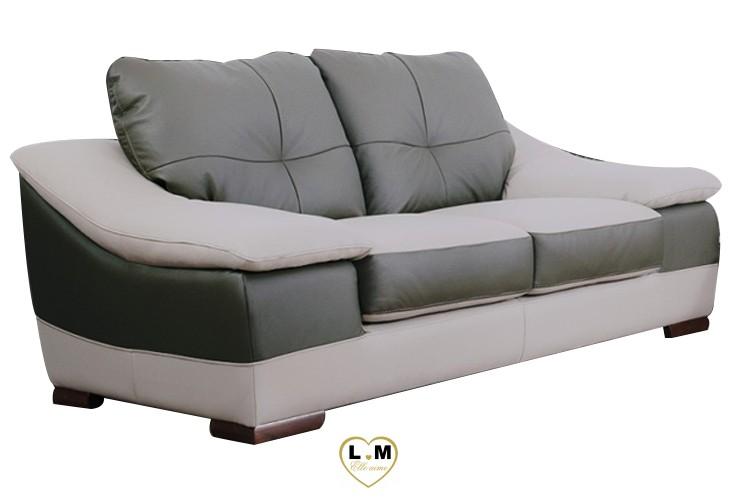 CARMEN SALON CUIR: Le Canapé 2 places - Longueur: 183 cm - Profondeur: 100 cm - Hauteur: 90 cm (B)