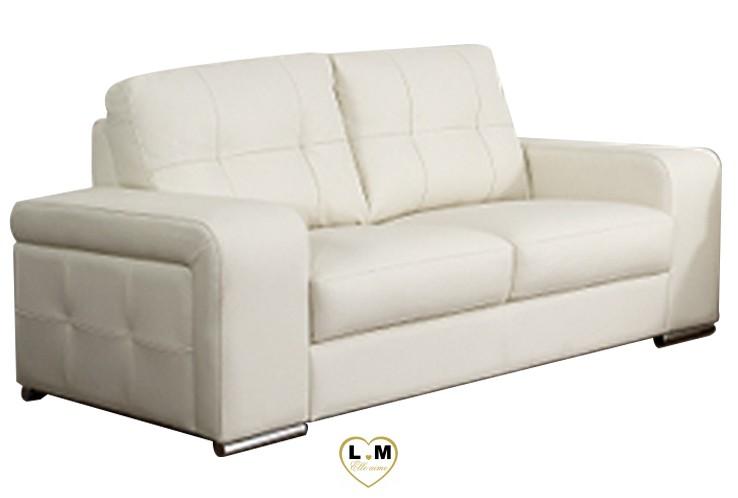 CAROLE SALON CUIR: Le Canapé 2 places - Longueur: 170 cm - Profondeur: 88 cm - Hauteur: 90 cm (B)