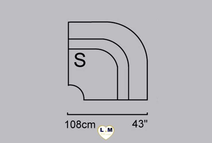 CAROLINE ANGLE SALON CUIR: L' Angle - Longueur: 110 cm - Profondeur: 110 cm - Hauteur: 99 cm (S)