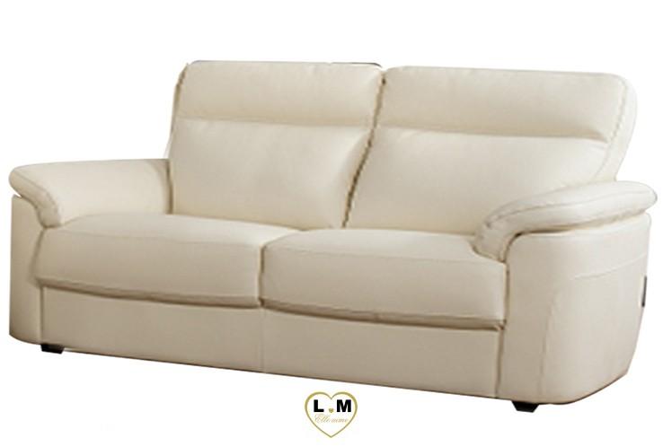 CAROLINE SALON CUIR: Le Canapé 2,5 Places - Longueur:190 cm - Profondeur: 96 cm - Hauteur: 90 cm (E)