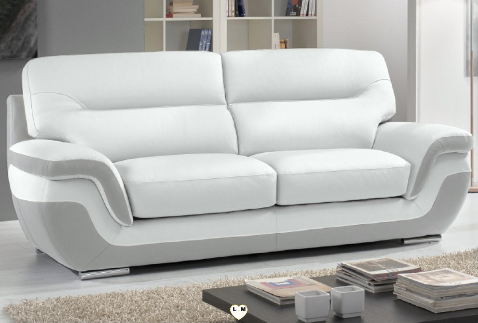 cassandre ensemble salon cuir lignemeuble com. Black Bedroom Furniture Sets. Home Design Ideas